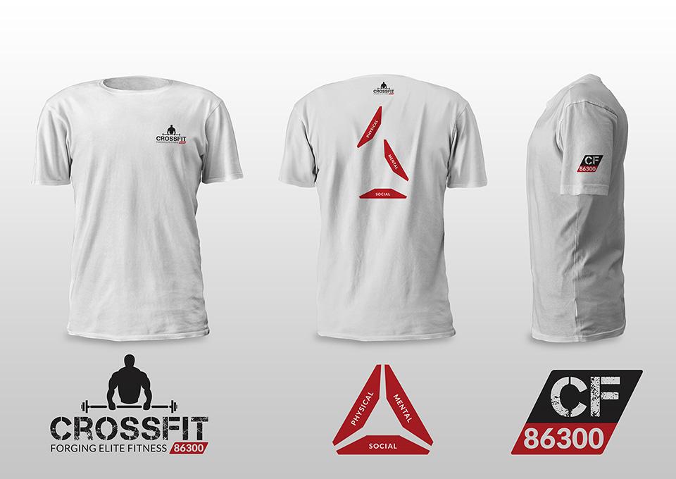 Crossfit 86300 - projekt koszulki męskiej