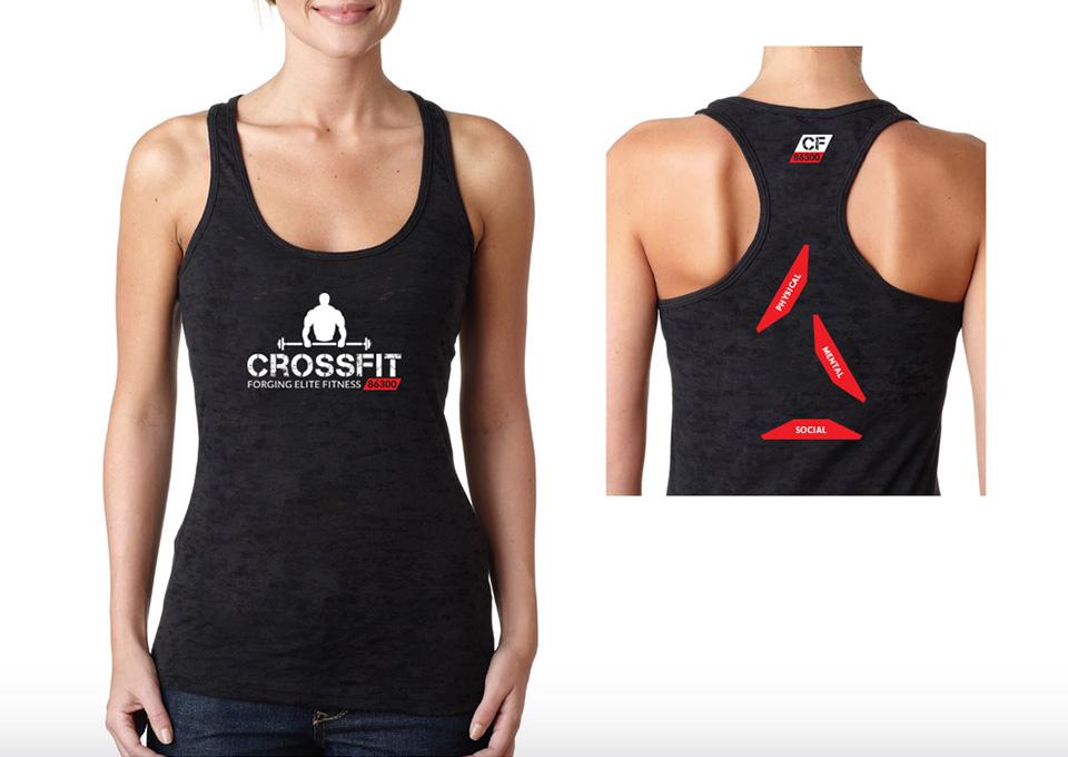 Crossfit 86300 - projekt koszulki damskiej