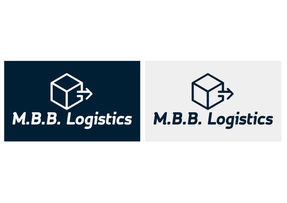 Wersje kolorystyczne projektu logo M.B.B. Logistics