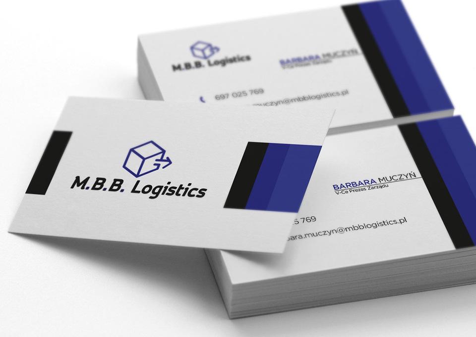 Projekt wizytówki M.B.B. Logistics
