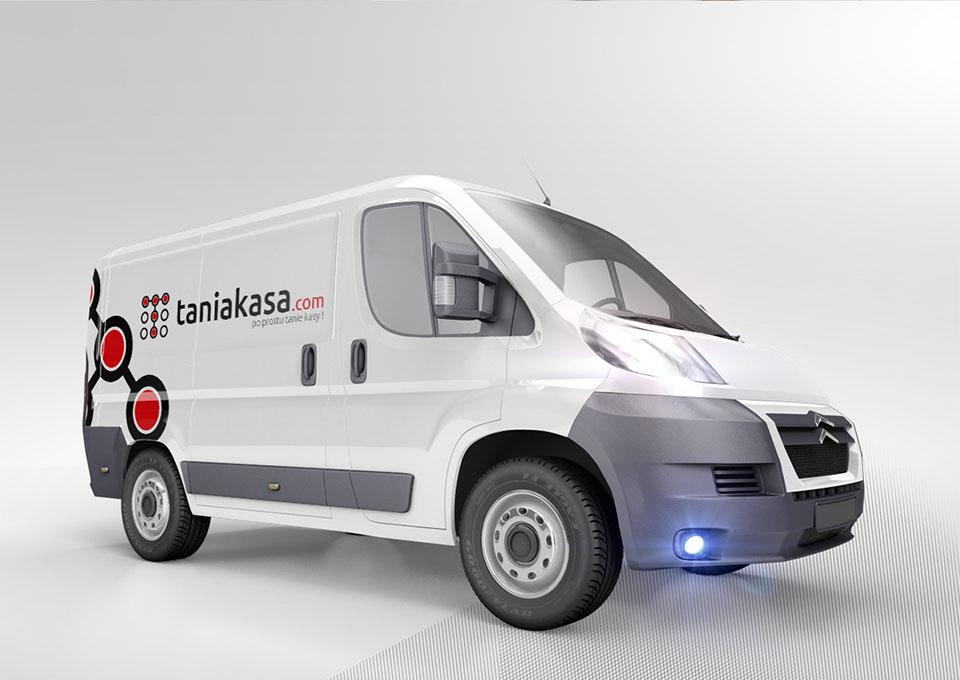 Taniakasa.com - projekt oklejenia samochodu